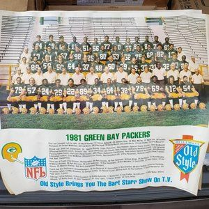Vintage 1981 Green Bay Packers Team Photo Poster